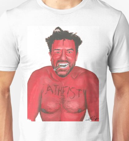 Ricky Gervais 'Atheist' Painting Unisex T-Shirt