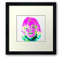 Marilyn Monroe in Psychedelic Color Framed Print