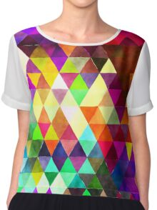 triangle pattern Chiffon Top