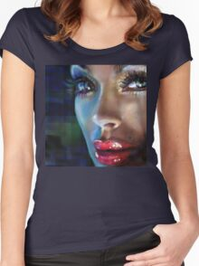 Brilliant Eyes Women's Fitted Scoop T-Shirt