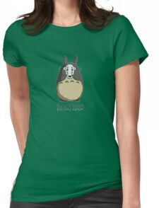 Totoro I'm not here Womens Fitted T-Shirt