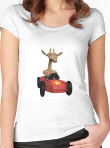 Wild Animal Racing  Women's Fitted Scoop T-Shirt