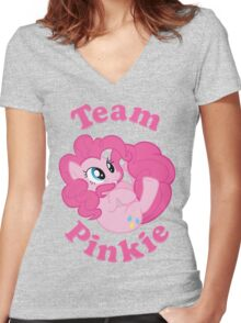 Team Pinkie Women's Fitted V-Neck T-Shirt