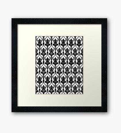 221b sherlock wallpaper Framed Print
