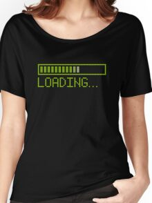 Loading Time in Green Women's Relaxed Fit T-Shirt