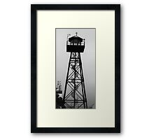 Guard Tower on Alcatraz, San Francisco Framed Print