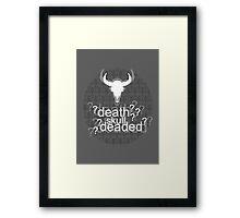 Deaded? - Drunk Deductions Framed Print