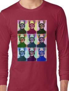 Frankenstein Pop Art Long Sleeve T-Shirt