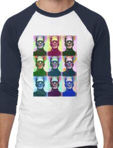 Frankenstein Pop Art Men's Baseball ¾ T-Shirt
