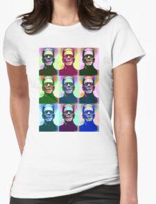 Frankenstein Pop Art Womens Fitted T-Shirt