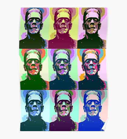 Frankenstein Pop Art Poster