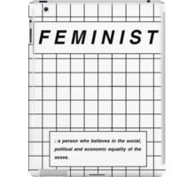 definition of feminist iPad Case/Skin
