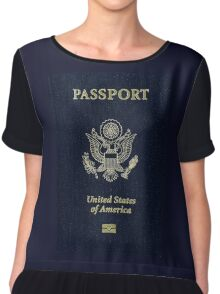 USA Passport Chiffon Top