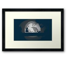 Alice and the Moon  Framed Print