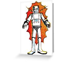 classic sci-fi robot Greeting Card