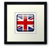 Union Jack, Button, British Flag, UK, United Kingdom, Blighty, Pure & simple Framed Print