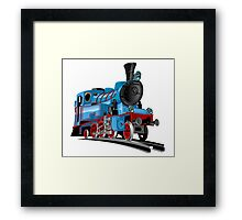 Cartoon Tank Engine Framed Print