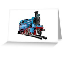 Cartoon Tank Engine Greeting Card