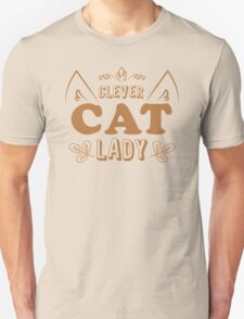Clever cat lady T-Shirt