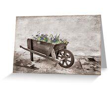 Pretty wheelbarrow Greeting Card