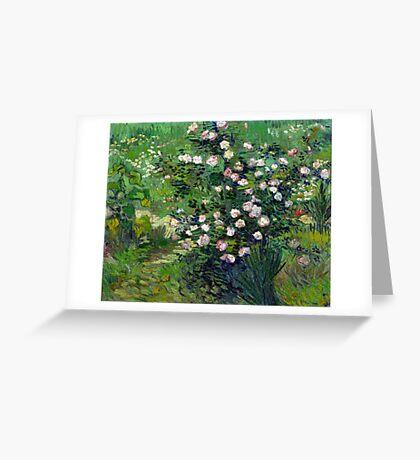 Vincent van Gogh Roses Greeting Card