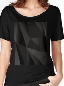 Origami Black abstract fractal texture Women's Relaxed Fit T-Shirt