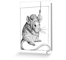 Mouse at arms Greeting Card