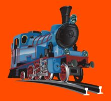 Cartoon Tank Engine Kids Tee