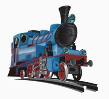Cartoon Tank Engine One Piece - Short Sleeve