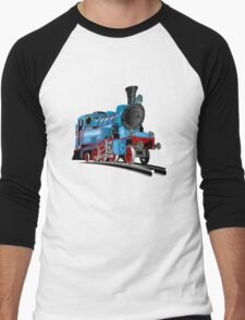 Cartoon Tank Engine Men's Baseball ¾ T-Shirt