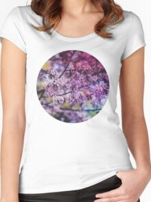 Purple Spring Blossoms - Photograph Women's Fitted Scoop T-Shirt