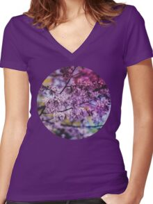 Purple Spring Blossoms - Photograph Women's Fitted V-Neck T-Shirt