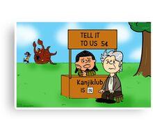 Tell That to Kanjiklub Charlie Brown Canvas Print