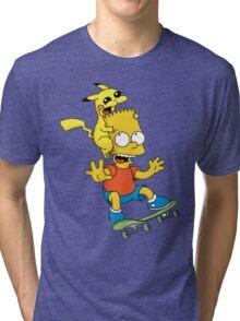 Skateboarding Is Not A Crime, Don't Bite Me ! Tri-blend T-Shirt