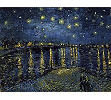 Vincent van Gogh Starry Night over the Rhone Photographic Print