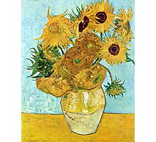 Vincent van Gogh Still Life Vase with Twelve Sunflowers Photographic Print