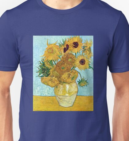 Vincent van Gogh Still Life Vase with Twelve Sunflowers Unisex T-Shirt