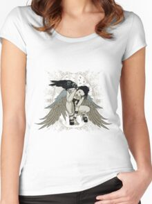 Black Angel Women's Fitted Scoop T-Shirt