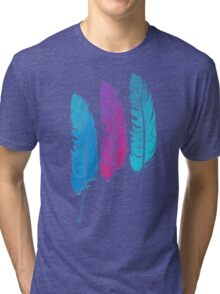 Colorful Feathers Tri-blend T-Shirt