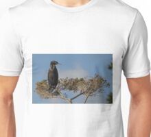 Cormorant sitting in a tree at Balcombe Estuary  Unisex T-Shirt