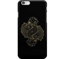 Pisces gold iPhone Case/Skin