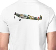SPITFIRE, WAR BIRD, War Plane, British, Airplane, Fighter, WWII, 1942,  Unisex T-Shirt