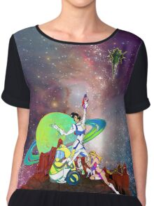 Dandy Vacation. In Space Chiffon Top