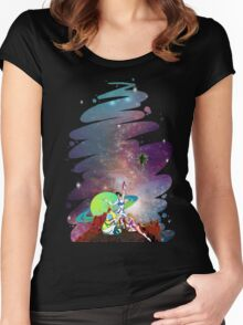 Dandy Vacation. In Space Women's Fitted Scoop T-Shirt