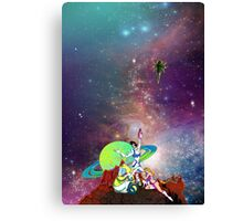 Dandy Vacation. In Space Canvas Print