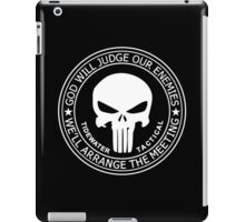 THE PUNISHER - GOD WILL JUDGE OUR ENEMIES iPad Case/Skin