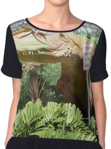 Stay out of the garden Chiffon Top