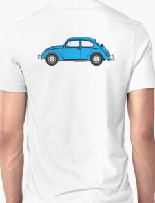 VW, Beetle, Bug, Volkswagen, Motor, Car, BLUE Unisex T-Shirt