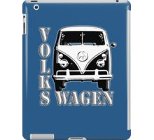 VW, CAMPER, Volkswagen, Van, Split screen, 1966, Volkswagen, Kombi, North America, on Blue iPad Case/Skin