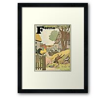 F is for Ferme - French Alphabet Animals Framed Print